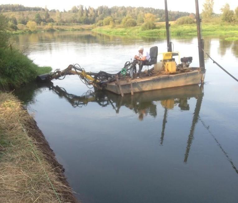 Очистка русла рек, изменение береговой линии