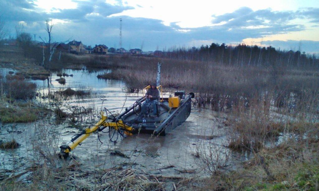 Почистить болото. Очистка болот мини - земснарядом