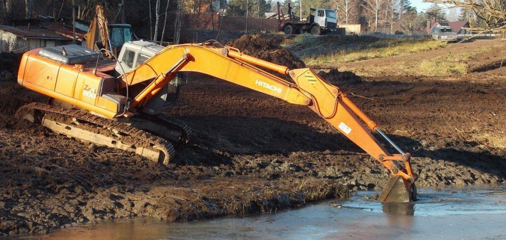 Дноуглубительные работы компания Чистые пруды